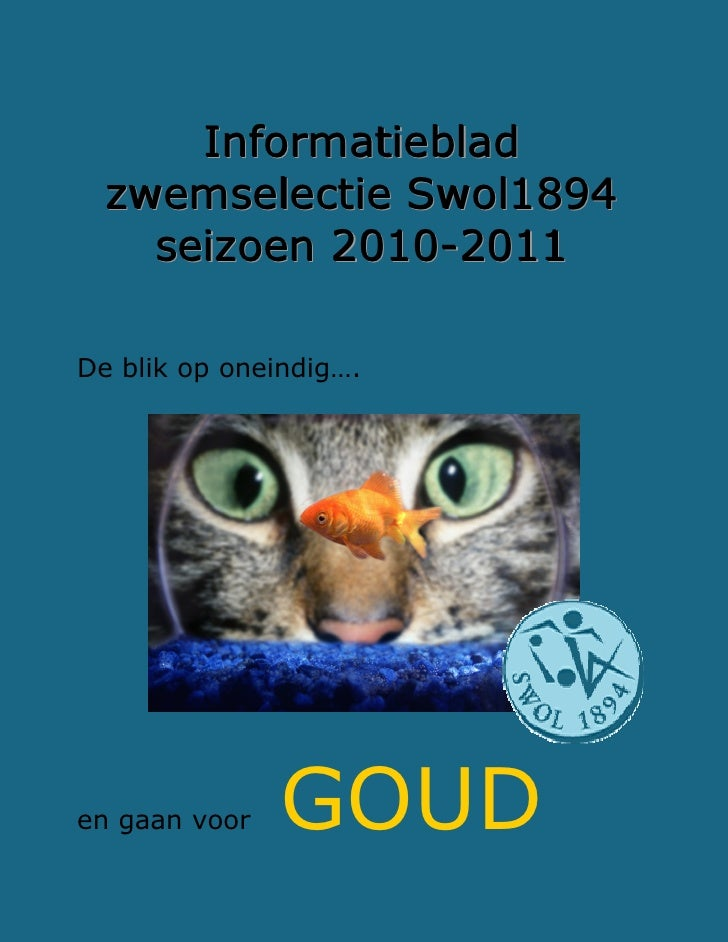 Informatieblad Zwemselectie Swolblauw 2010 2011