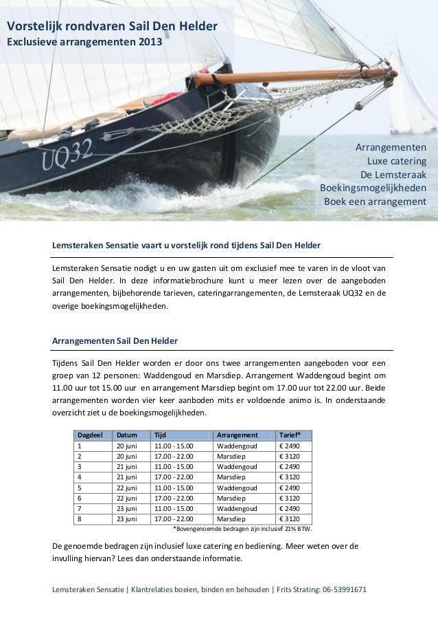 Lemsteraken Sensatie | Klantrelaties boeien, binden en behouden | Frits Strating: 06-53991671Lemsteraken Sensatie vaart u ...