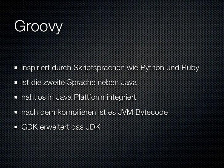 Informatik Seminar Groovy Und Grails Slide 3