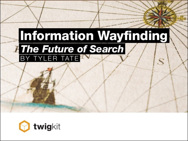 Information Wayfinding The Future of Search B Y T Y L E R TAT E