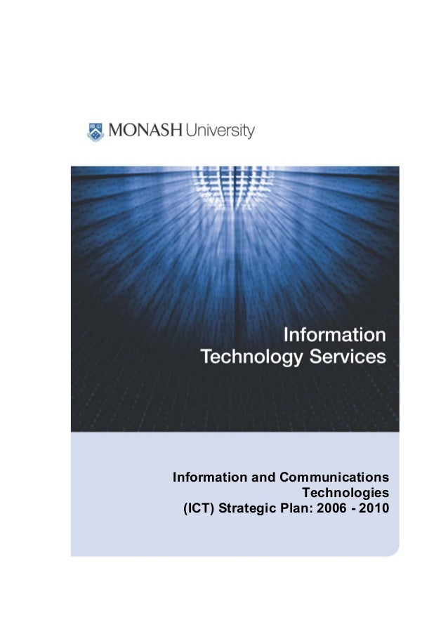 Information and Communications Technologies (ICT) Strategic Plan: 2006 - 2010
