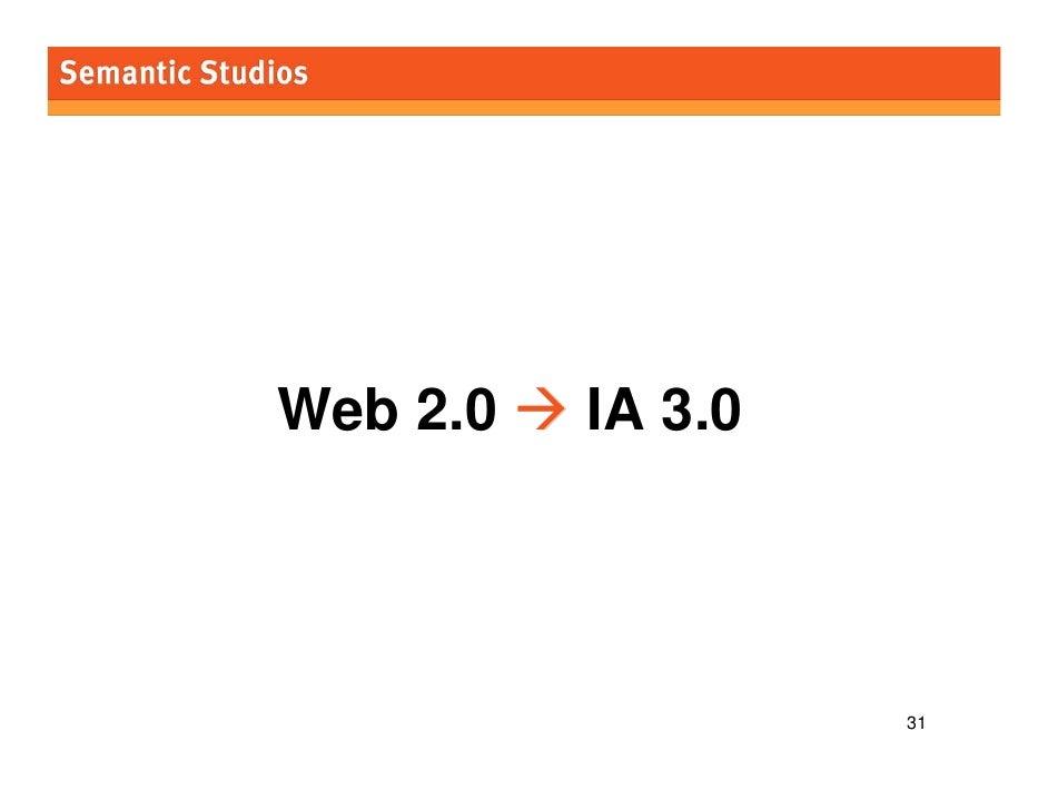 morville@semanticstudios.com     Web 2.0   IA 3.0                                       31