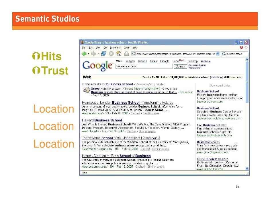 morville@semanticstudios.com      Hits  Trust   Location Location Location                                    5