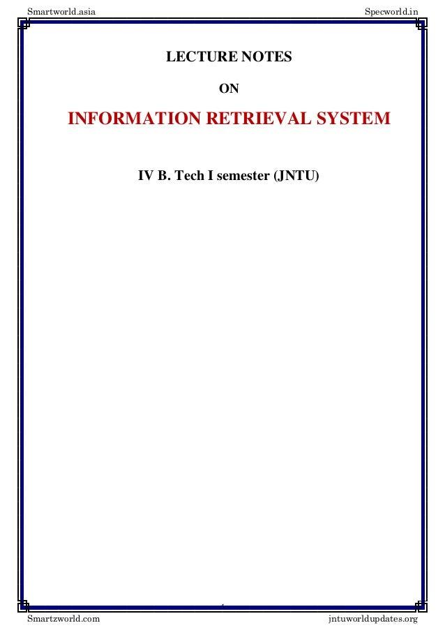 Information retrieval-systems notes