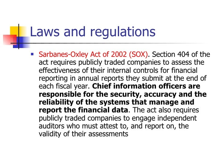 primer on the sarbanes oxley act 2002 Congress enacted the sarbanes-oxley act of 2002 a primer on sarbanes-oxley case study: a prime on sarbanes-oxley feb 3rd.