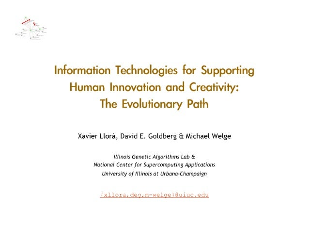 Information Technologies for Supporting Human Innovation and Creativity: The Evolutionary Path