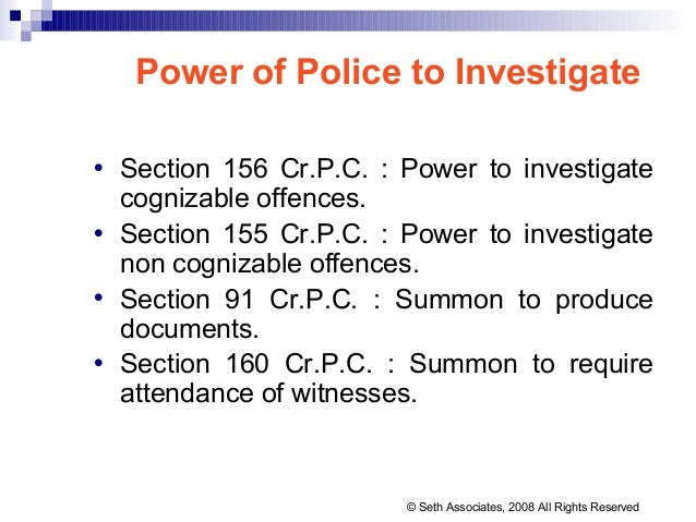 cognizable and non cognizable offences law essay Cognizable offenses & non-cogniable offenses at lawnn  schedule of the  criminal procedure code, 1973 or under any other law for the time being in force.