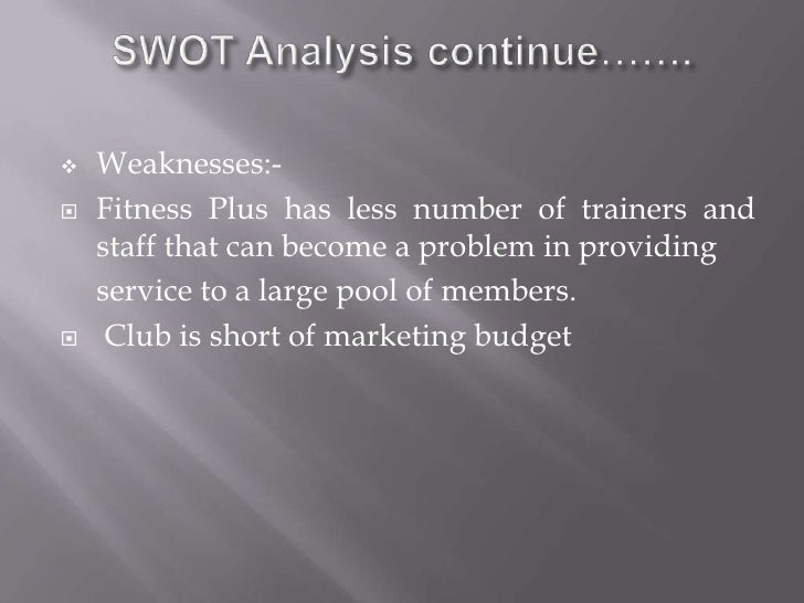 Empirical Study of Fitness Industry Cases-Based on SWOT