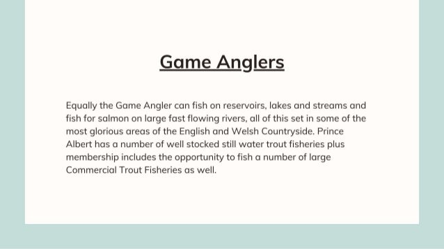 Information About Prince Albert Angling Society | Fishing Clubs