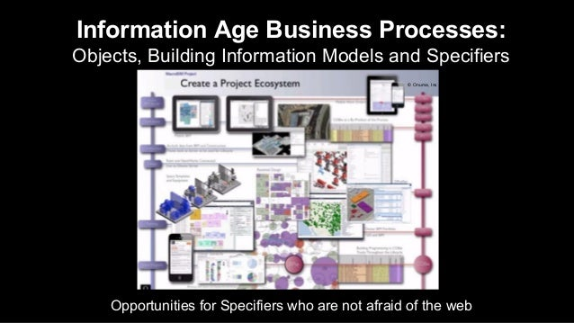 Information Age Business Processes: Objects, Building Information Models and Specifiers Opportunities for Specifiers who a...