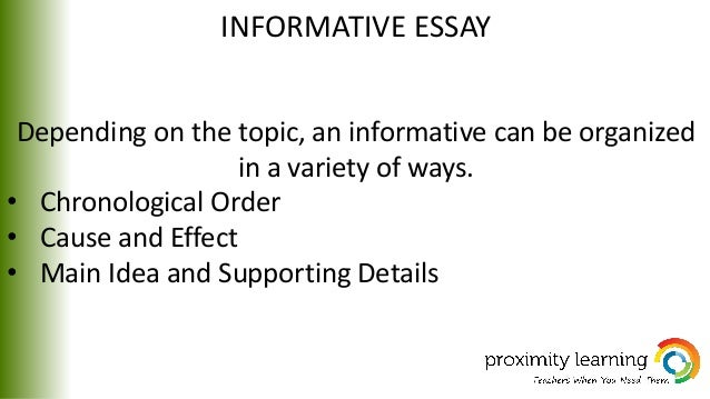 informational essay informative essay depending on the topic
