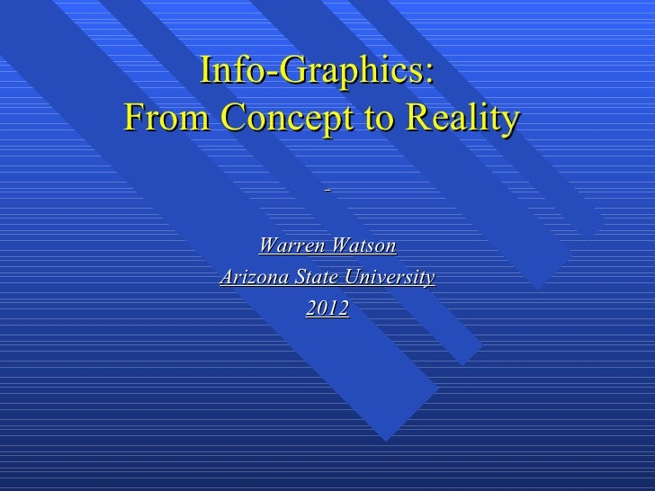 Info-Graphics:From Concept to Reality         Warren Watson     Arizona State University              2012