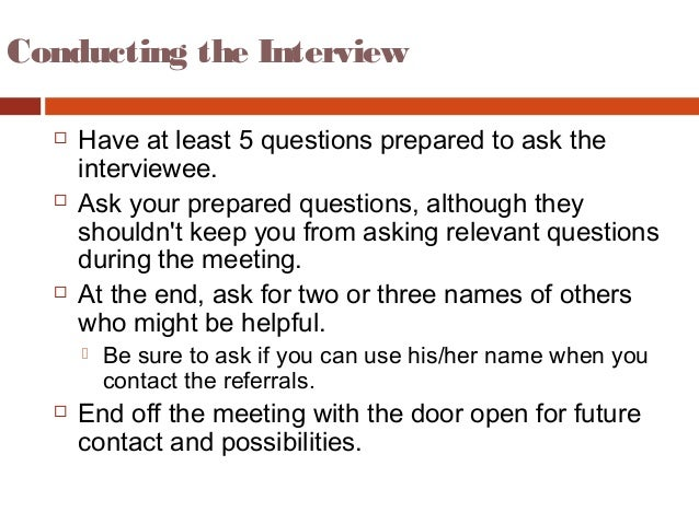 informational interviews questions