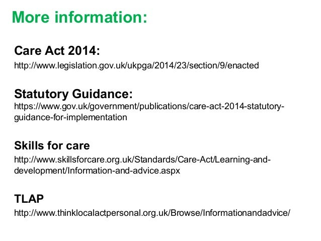 Information and Advice: vCare Act 2014 | Carl Evans ...