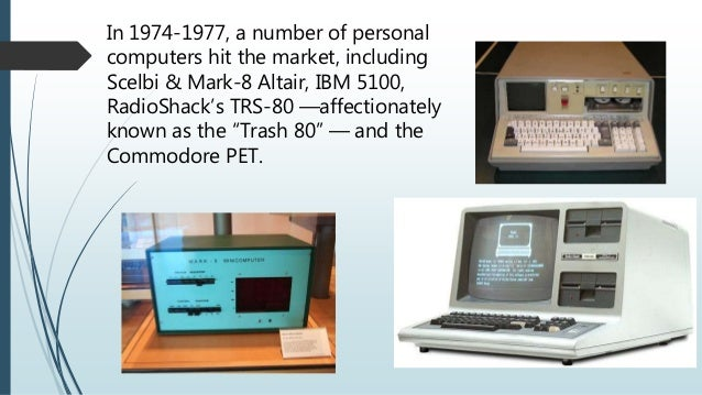 Pictures of Scelbi And Mark 8 Altair And Ibm 5100 Computers