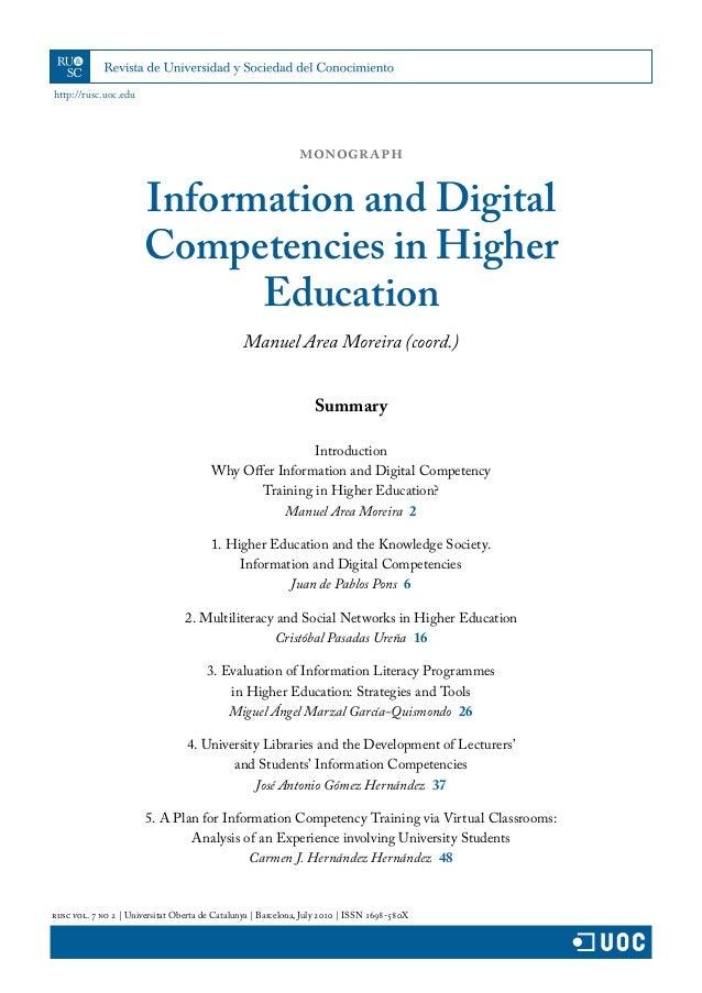 http://rusc.uoc.edu rusc vol. 7 no 2 | Universitat Oberta de Catalunya | Barcelona, July 2010 | ISSN 1698-580X Summary Int...