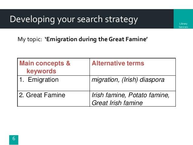 the irish potato famine and emigration essay