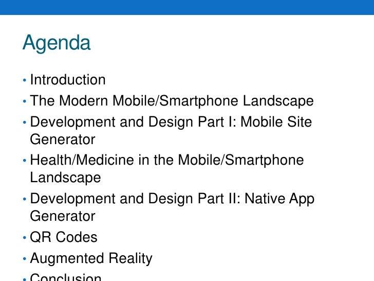 Agenda<br />Introduction<br />The Modern Mobile/Smartphone Landscape<br />Development and Design Part I: Mobile Site Gener...