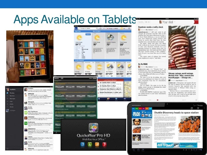 Apps Available on Tablets<br />