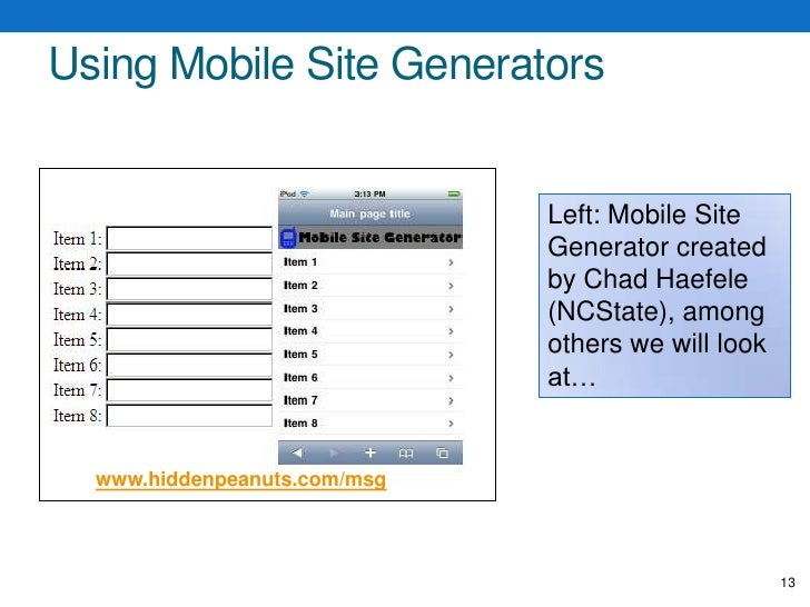 Designing for the Mobile Web<br />Prioritize features and content<br />Sacrifice!<br />Reduce levels of hierarchy for cont...