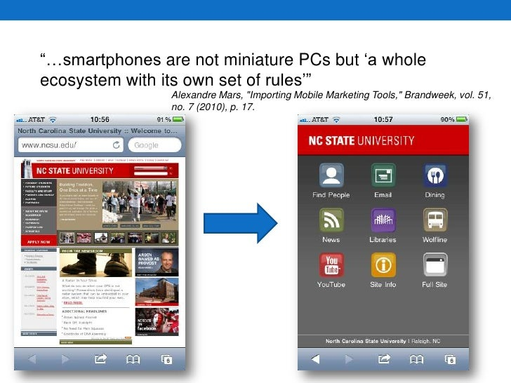 """""""…smartphones are not miniature PCs but 'a whole ecosystem with its own set of rules'""""<br />Alexandre Mars, """"Importing Mob..."""