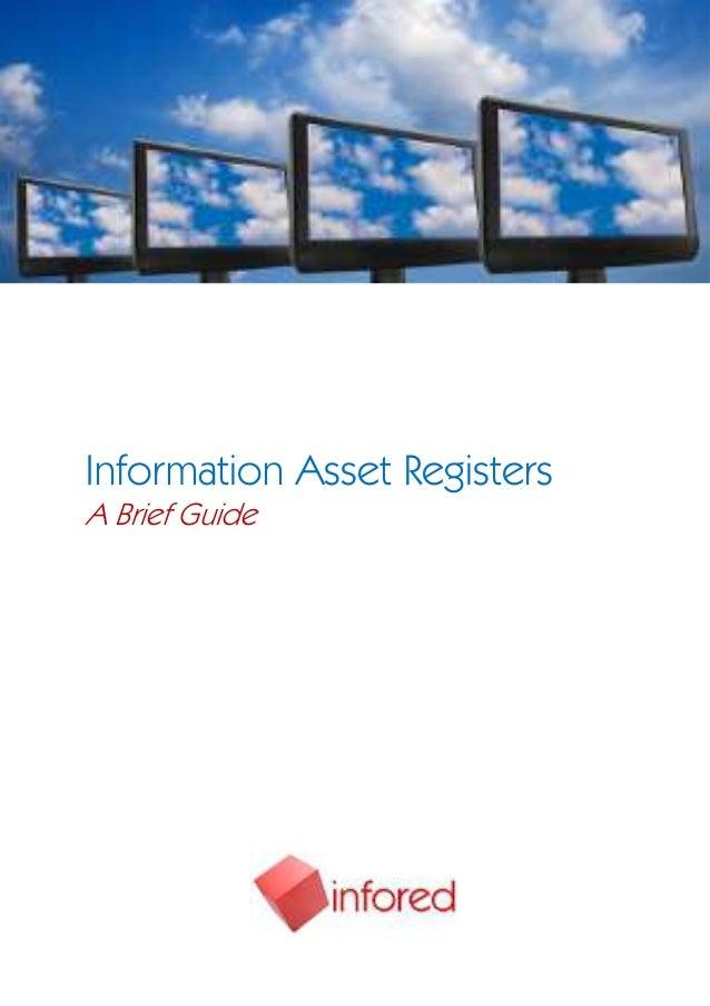 Information Asset RegistersA Brief Guide