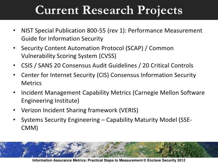 Information Assurance Metrics: Practical Steps to Measurement