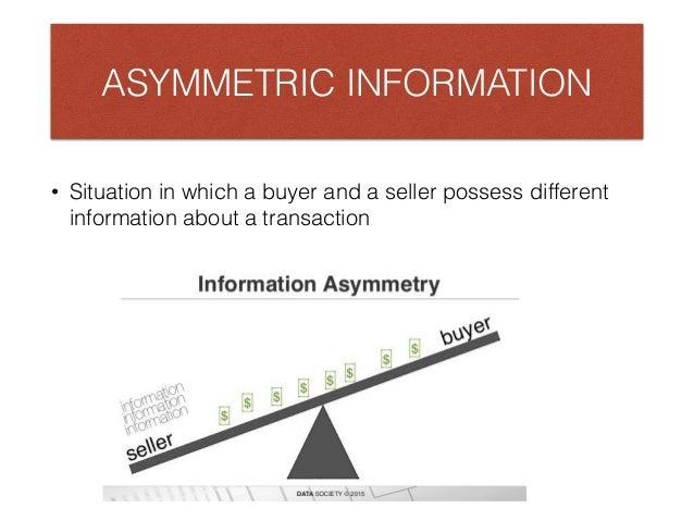 asymmetric information pdf