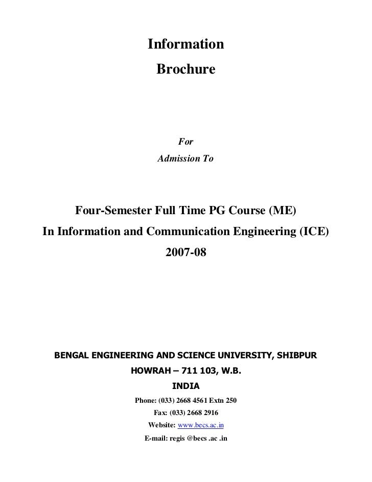 Information                       Brochure                              For                        Admission To     Four-S...