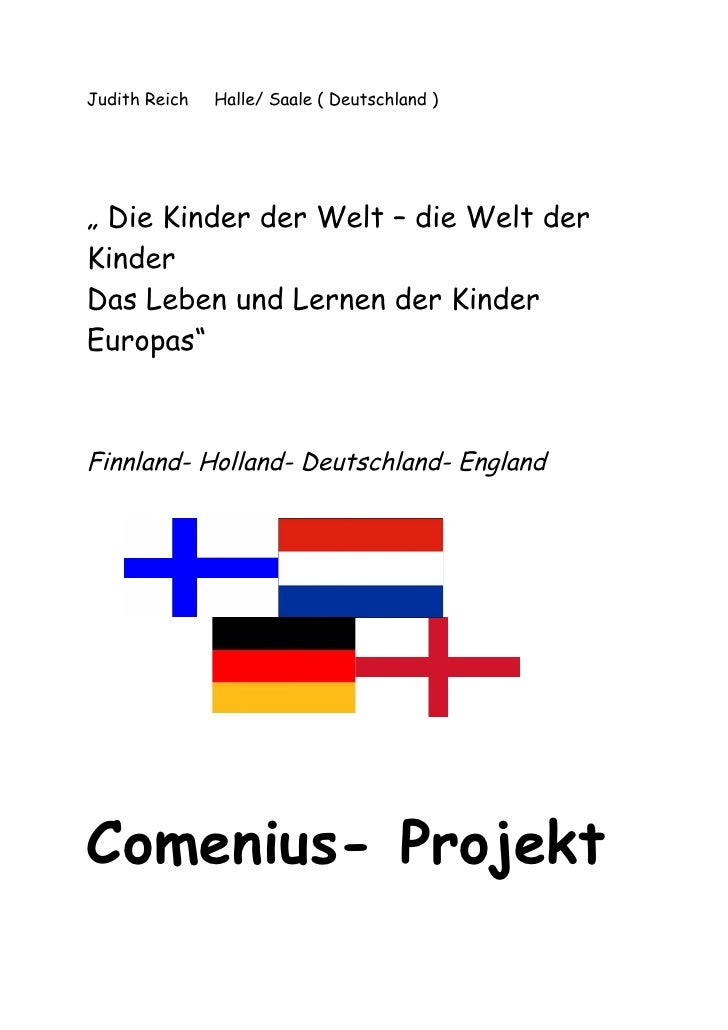 """Judith Reich   Halle/ Saale ( Deutschland )     """" Die Kinder der Welt – die Welt der Kinder Das Leben und Lernen der Kinde..."""