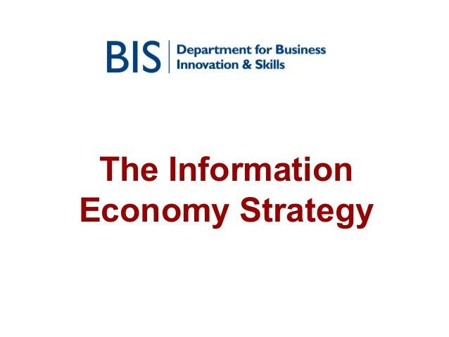 The Information Economy Strategy