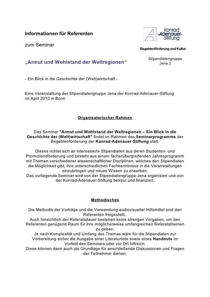 Informationen für Referenten  zum Seminar                                                            Begabtenförderung und...