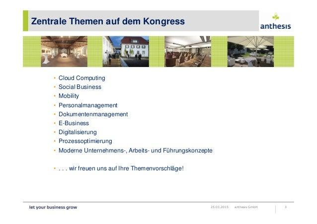Informationen zum fachkongress connect to the cloud 2015 Slide 3