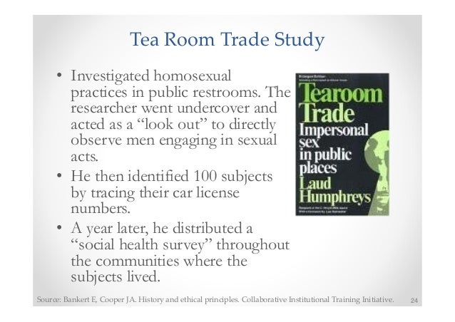 tearoom trade ethical issues In the tearoom sex study, many ethical problems were examined much of  edu/sexinfo/article/tearoom-trade:  helped combat underlying ethical issues, .
