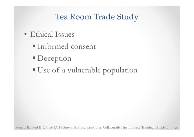 Tea Room Study Ethics
