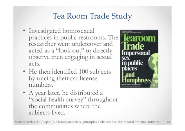 tearoom trade ethical issues Read this essay on citi program  for the tearoom trade study while posing as a lookout  with human subjects and the ethical principles as.