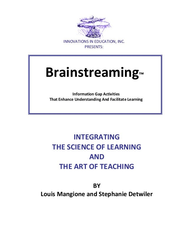 INNOVATIONS IN EDUCATION, INC. PRESENTS:  Brainstreaming™ Information Gap Activities That Enhance Understanding And Facili...