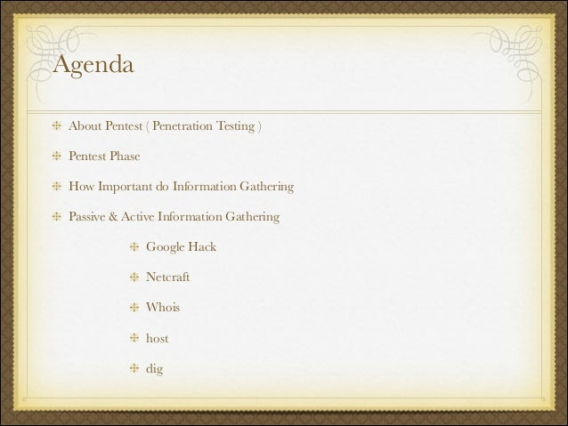 Information gath Slide 2