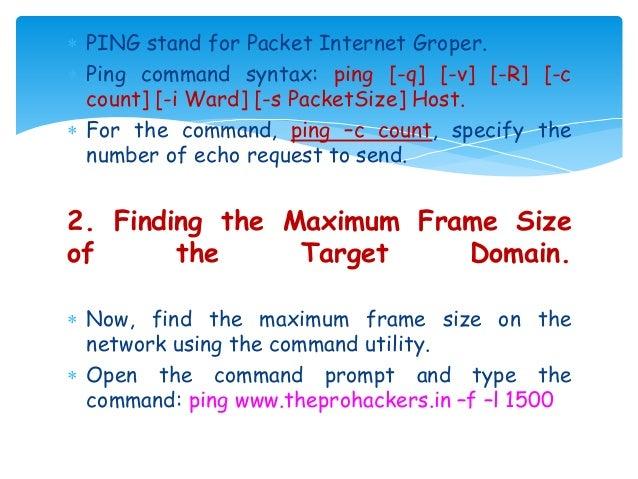 Information gathering using windows command line utility
