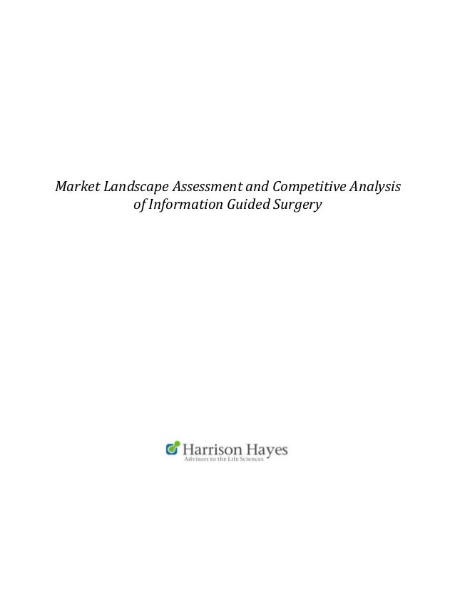 Information Guided Surgery Landscape Proposal Sample
