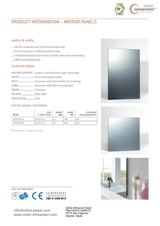 Information infrared heater mirror infrared heater by celine