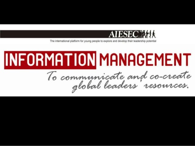 QUESTION 1.What is Communication andInformation Management?