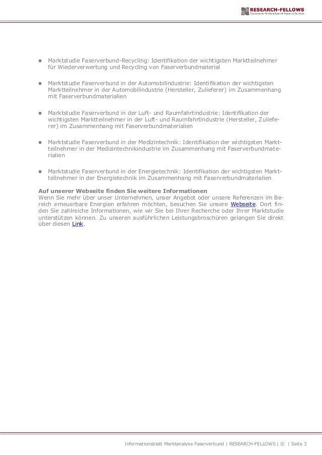 Marktanalyse Faserverbund und Composite-Materialien Slide 3