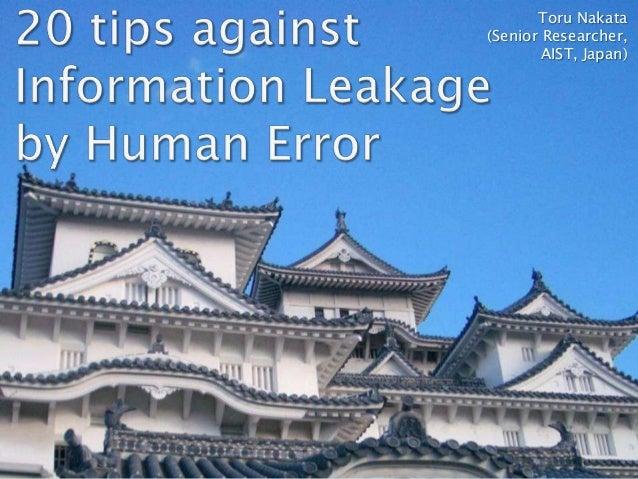 Toru Nakata (Senior Researcher, AIST, Japan)