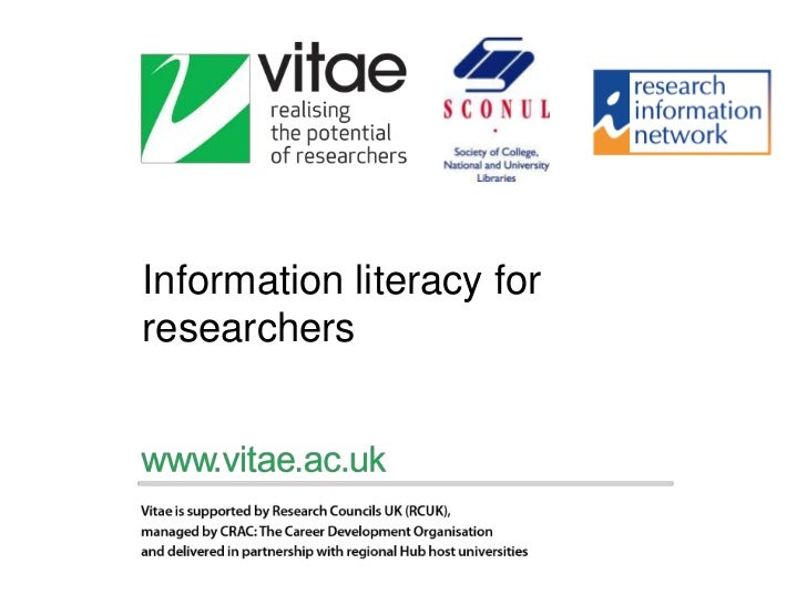 Information literacy for researchers<br />