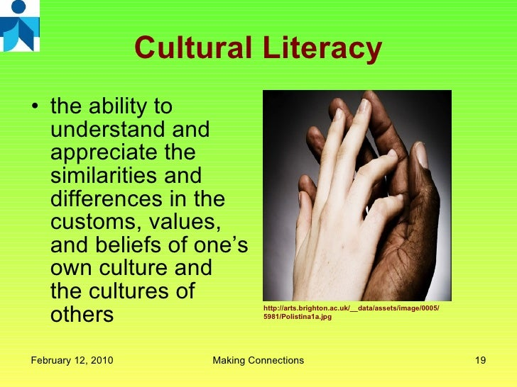 cultural literacy Definition of cultural literacy – our online dictionary has cultural literacy information from dictionary of american history dictionary encyclopediacom: english.