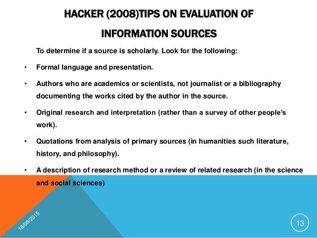 sources information literature review