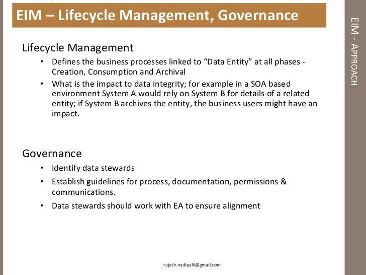 Information management and enterprise architecture
