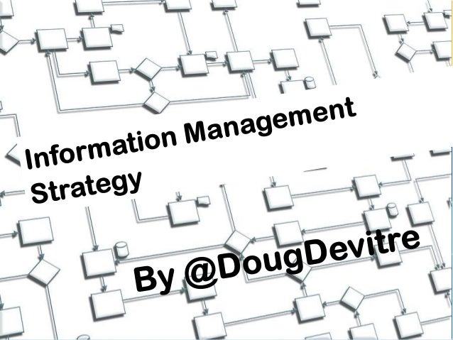 Information Management StrategyCurationCreationCollaborationUse this model todevelop the bestinformation managementstrateg...