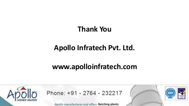 Information On Concrete Batching Plant From Apollo